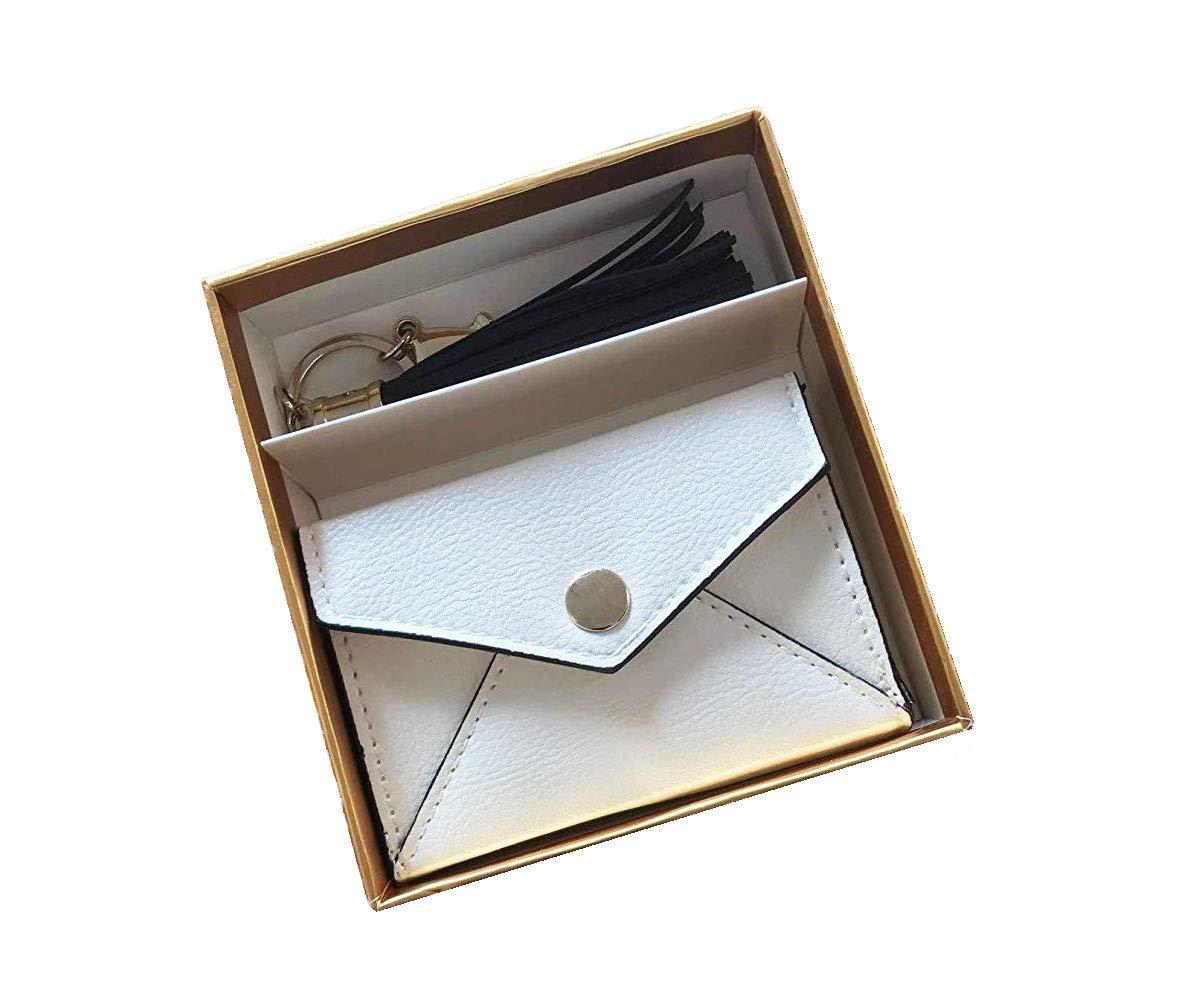 合成皮革 PU名刺ホルダーとバッグ タッセルギフトセット 女性用   B07GJR5JD5