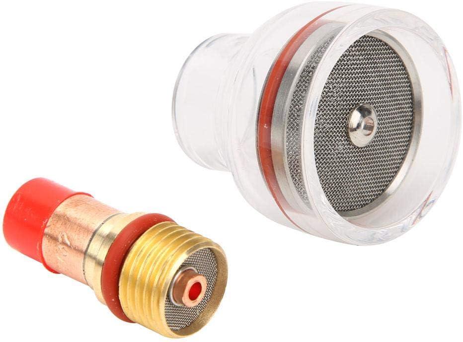 2.4MM TIG-Brennergaslinsen Spannzangen Glasschale f/ür TIG-17 18 26 Zubeh/ör f/ür Schwei/ßbrenner-Kits