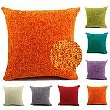 JewellryUS Throw Pillow Covers Cotton Linen Home Decorative Soft...