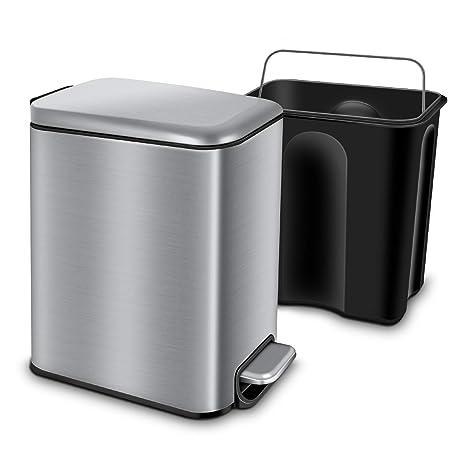 Amazon.com: YCTEC - Papelera rectangular pequeña con tapa ...