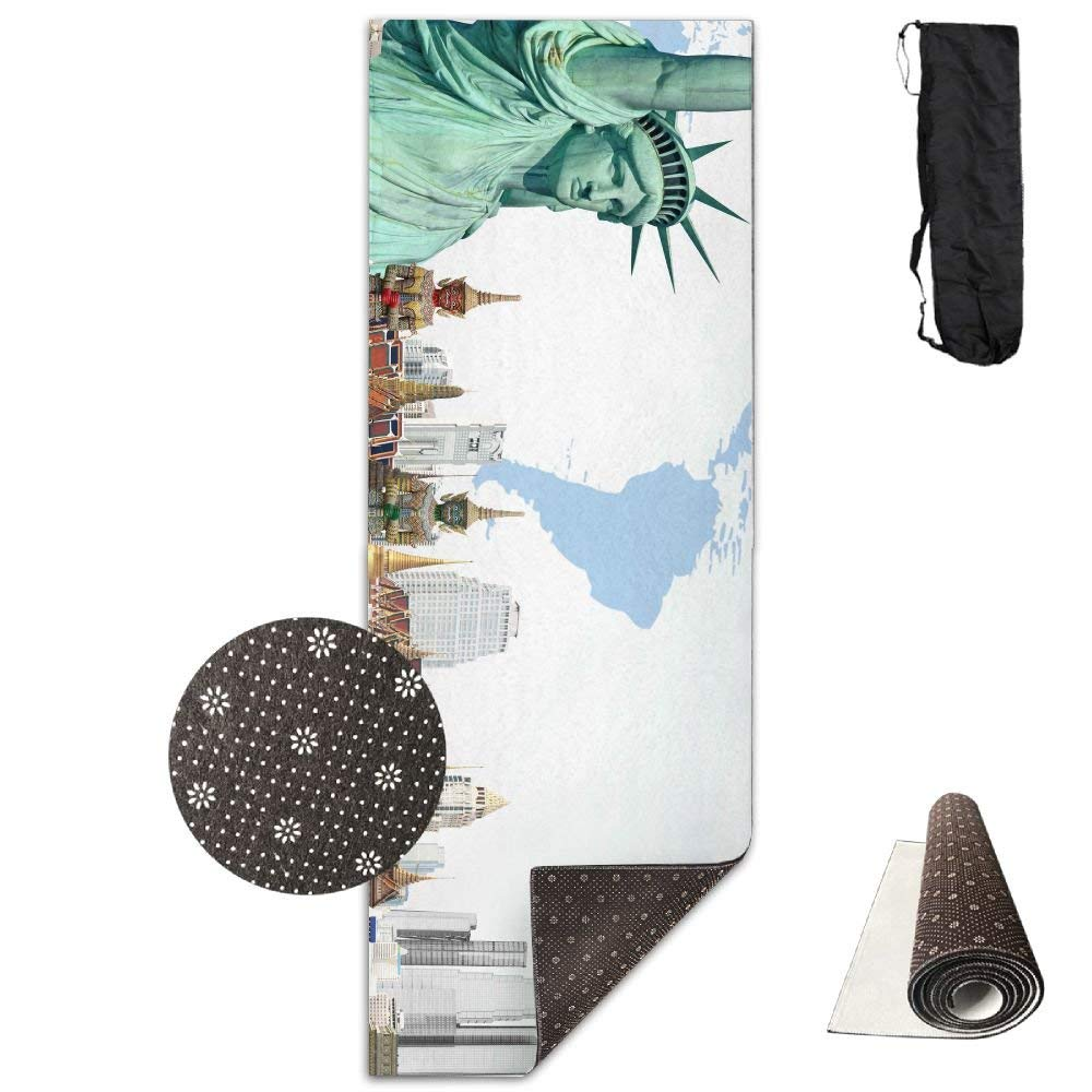 Famous Buildings Over The World Deluxe,Yoga Mat Aerobic Exercise Pilates Anti-slip Gymnastics Mats by HOTSELL-Makemoney.forever