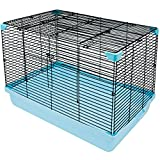 Niteangel Small Animal Habitat, Hamster Cage Blue and Black