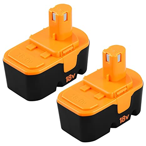 Replacement ONE Plus for Ryobi 18v Battery P100 P101 ABP1801 130224054  130224028 3 0Ah Cordless Power Tools for Ryobi 18 Volt Batteries (2-Packs)