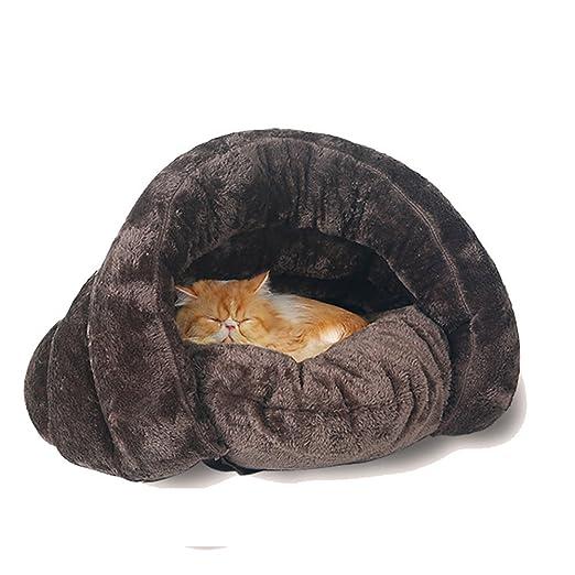 Casa para mascotas con diseño triangular, saco de dormir, lavable, cómoda para acurrucarse, para gatitos, perros y cachorros, un cálido refugio, ...