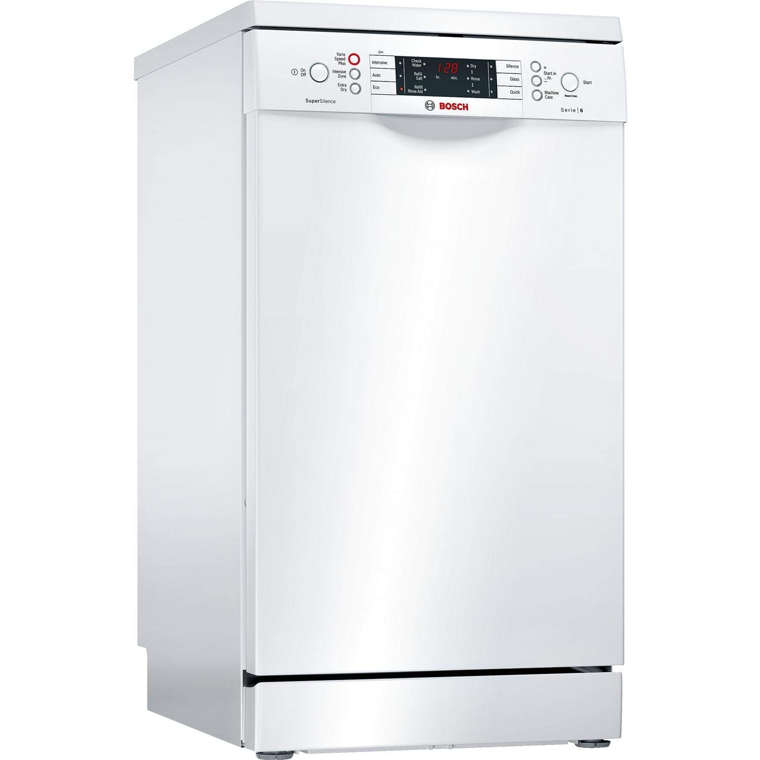Bosch SPS66TW00G Serie 6 Silence Plus 10 Place Slimline Freestanding Dishwasher - White [Energy Class A++]
