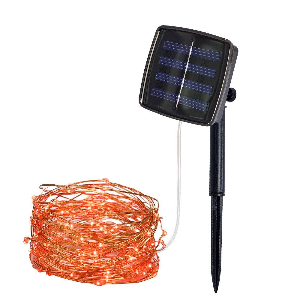 16 Fu/ß 50 LEDs Gel/änder Sternen String Licht f/ür Garten Fee Zaun 2 Pack Arbor Baum Solar Mini Teeny winzige Lichter