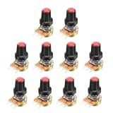 uxcell 10Pcs 20K Ohm Variable Resistors Single Turn
