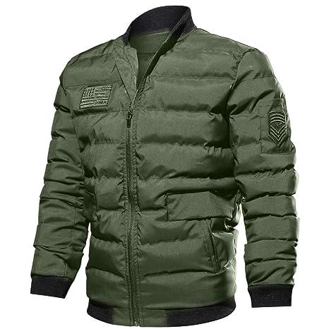 Men s Autumn Winter Casual Long Sleeve Solid Zipper Cotton Jacket Top  Blouse  Amazon.fr  Vêtements et accessoires e0090515e935