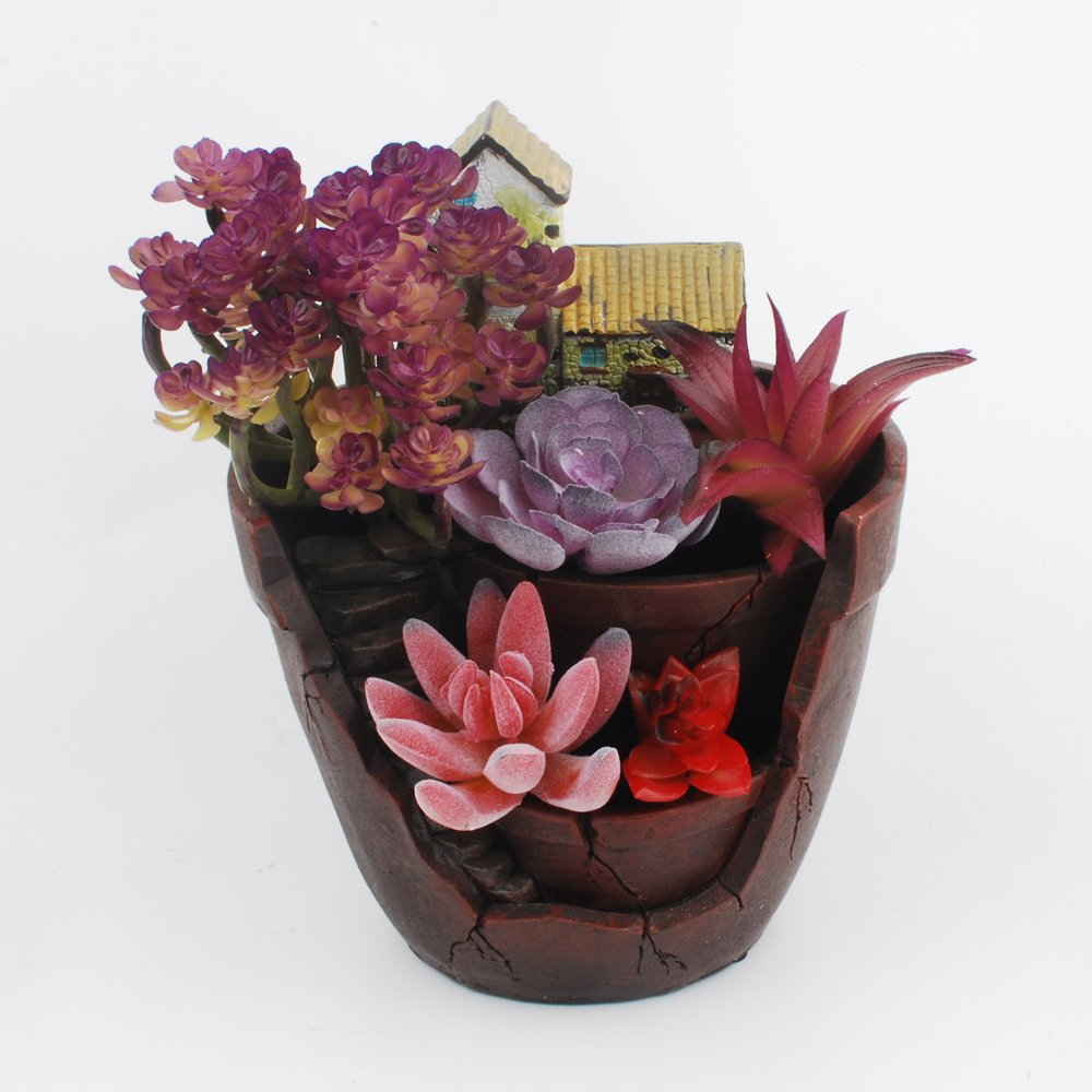 NWFashion Garden Pot, Garden and Sweet House for Holiday Decoration and Gift Planter Flower Pot