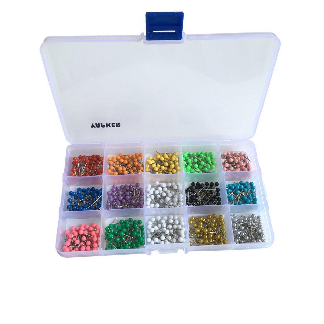 Vapker 750pz colori assortiti tonda 14Map Tacks 1/20, 3cm puntine con mappa 70926