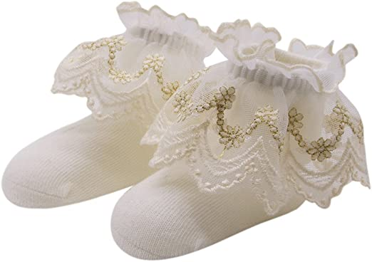 CZYCO Solid Lace Bow Princess Socks For 0-1 year old Baby Kids Girls Cute Sock