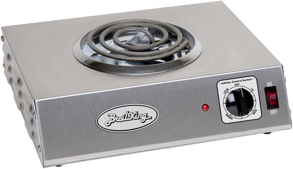 14-Inch by 4-1//8-Inch by 12-1//4-Inch Grey Broil King CSR-1TB Professional Single Hot Plate