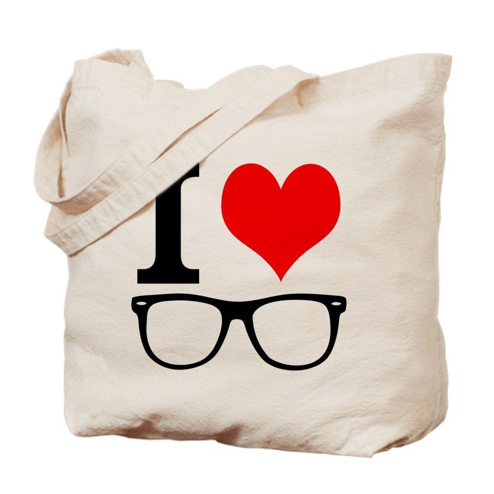 CafePress – I Love Hipsters。 – ナチュラルキャンバストートバッグ、布ショッピングバッグ B06WP5ZQR1