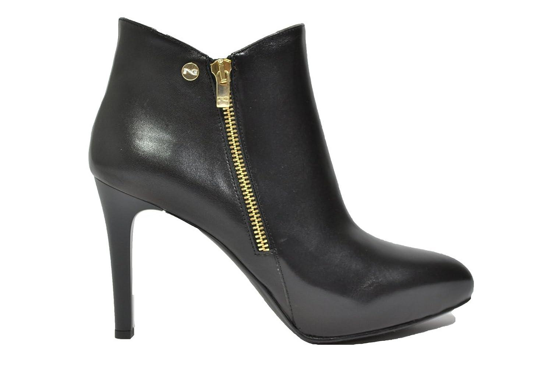 NERO GIARDINI Polacchini scarpe donna nero 6313 elegante mod. A616313DE
