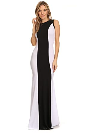 b0d05a793ad1 KAREN T. DESIGN Solid color block sleeveless maxi dress (Medium) at ...