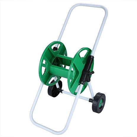 Rampmu Garden 2 Wheel Water Hose Reel Cart, 150 Feet Capacity Holder Roller