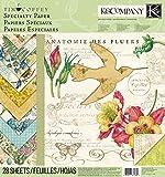 K&Company Scrapbooking Paper Pad, Tim Coffey Foliage Specialty