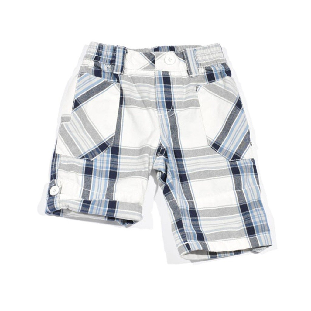 Petit Lem Sporty Crew Plaid Polo Shorts