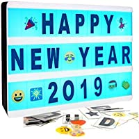Cinematic Light Box- Magnetic Mini Cinema Light Box, Customized Your Own Message Home Decoration,Wedding,Birthday Parties