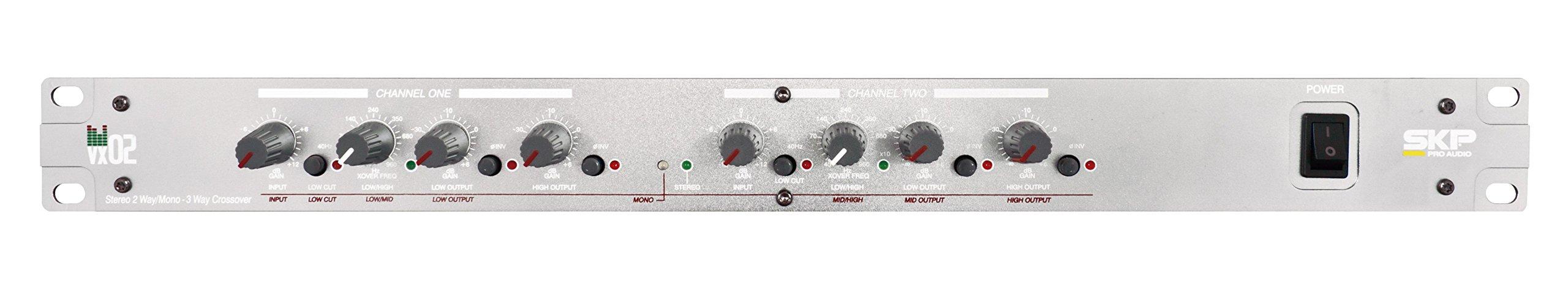 SKP PRO AUDIO Professioanl Stereo Crossover Compressor (VX-02) by SKP Pro Audio