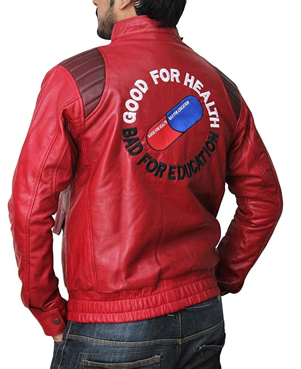 Decrum Superhero Costume Jacket Mens - Cosplay Leather Jackets & Coat for Adult