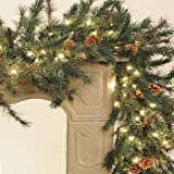 Direct Export Company Inc Emerald Pine Lighted Garland 9 ft