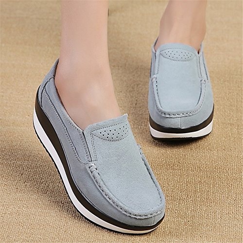 Shoes Shoes New Spring Fitness Large Scarpe Novità da SHINIK D Size fondo Slip Shoes spesso On donna Shake Mom Fall Lazy Pelle SO0BWq