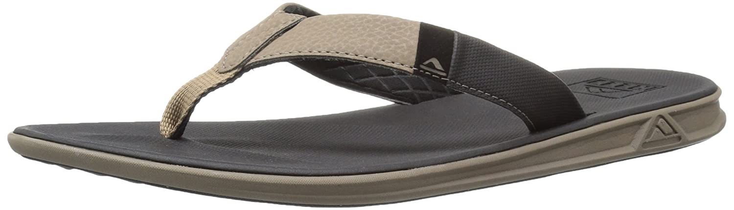 Reef Slammed Rover Black/Tan, Chanclas para Hombre 39 EU|Multicolor (Black/Tan Bta)