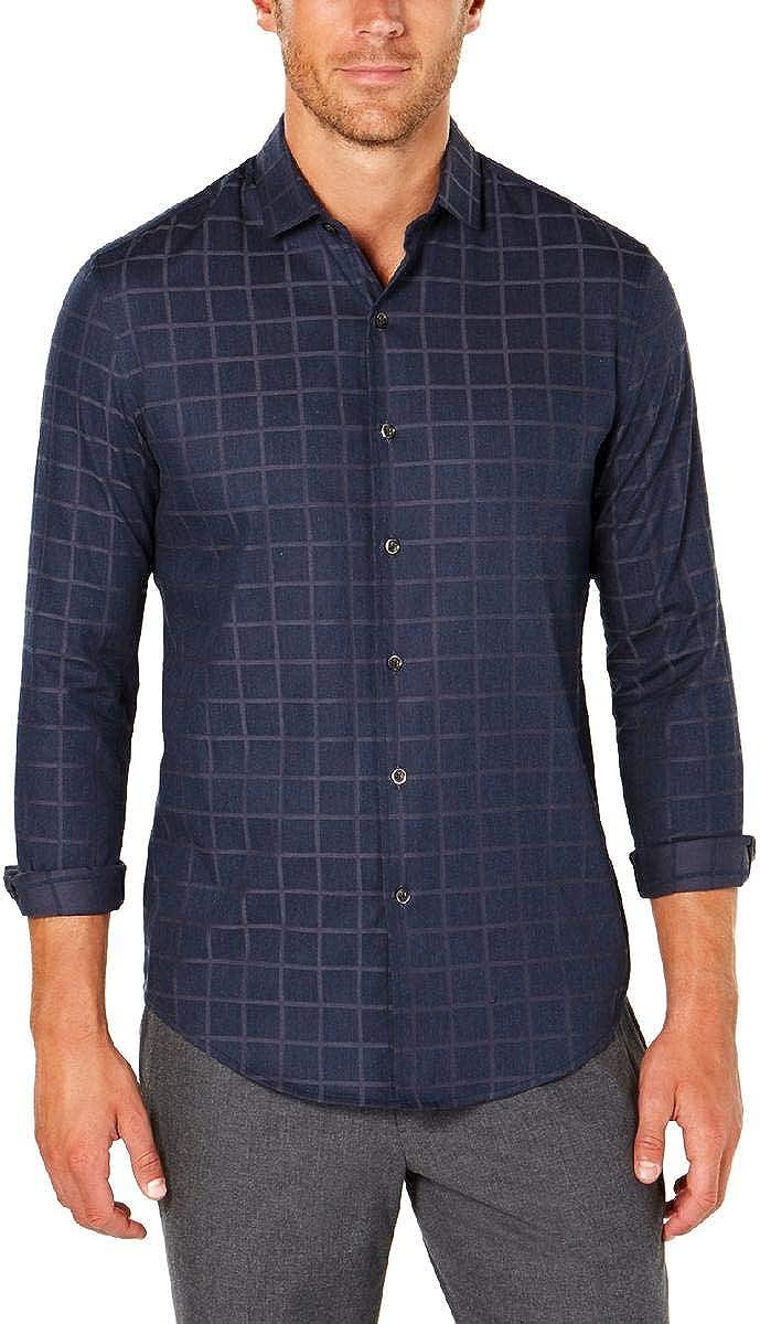 Tasso Elba Mens Luxe Lounge Button-Down Shirt