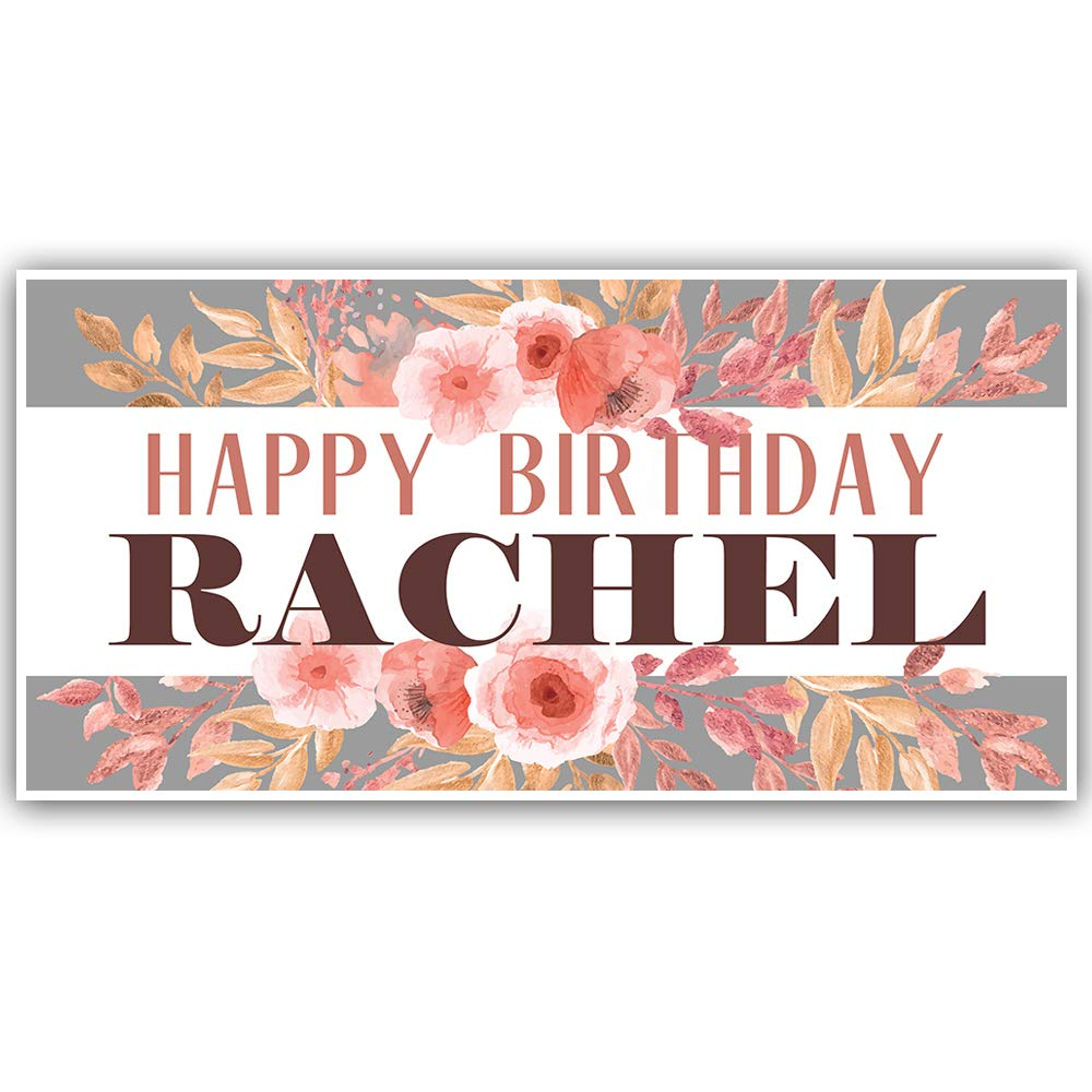 Fancy Floral Birthday Personalized Banner