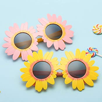 Amazon.com: Gafas de sol de girasol con forma redonda para ...