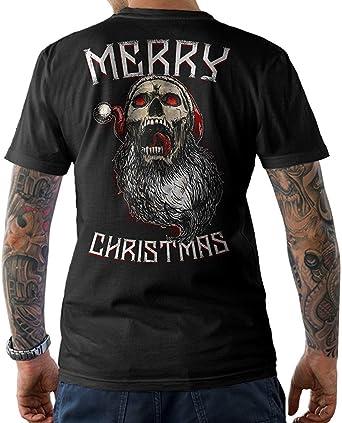 NG articlezz Santa Calavera Merry Christmas Camiseta Santa ...