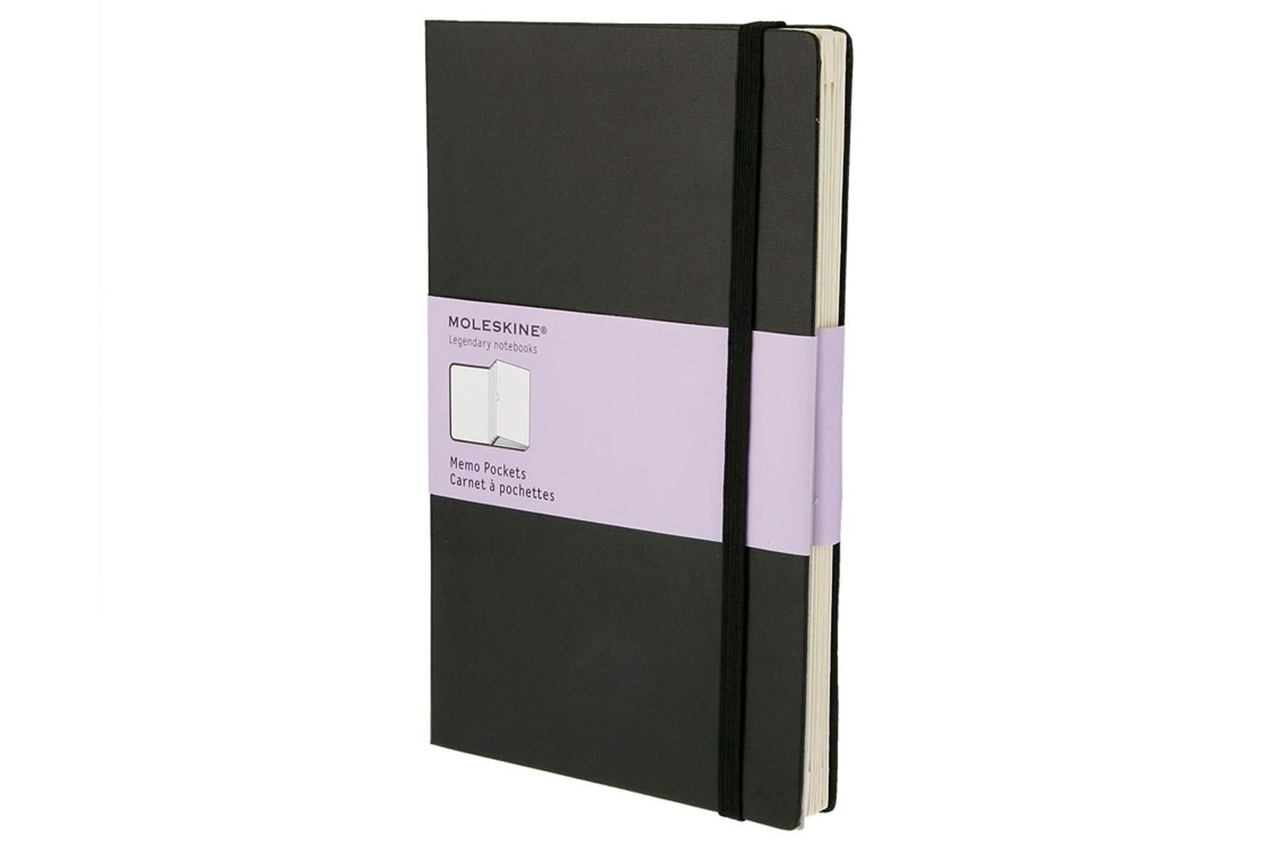 Moleskine Classic Memo Pockets, Large, Black, Hard Cover (5.