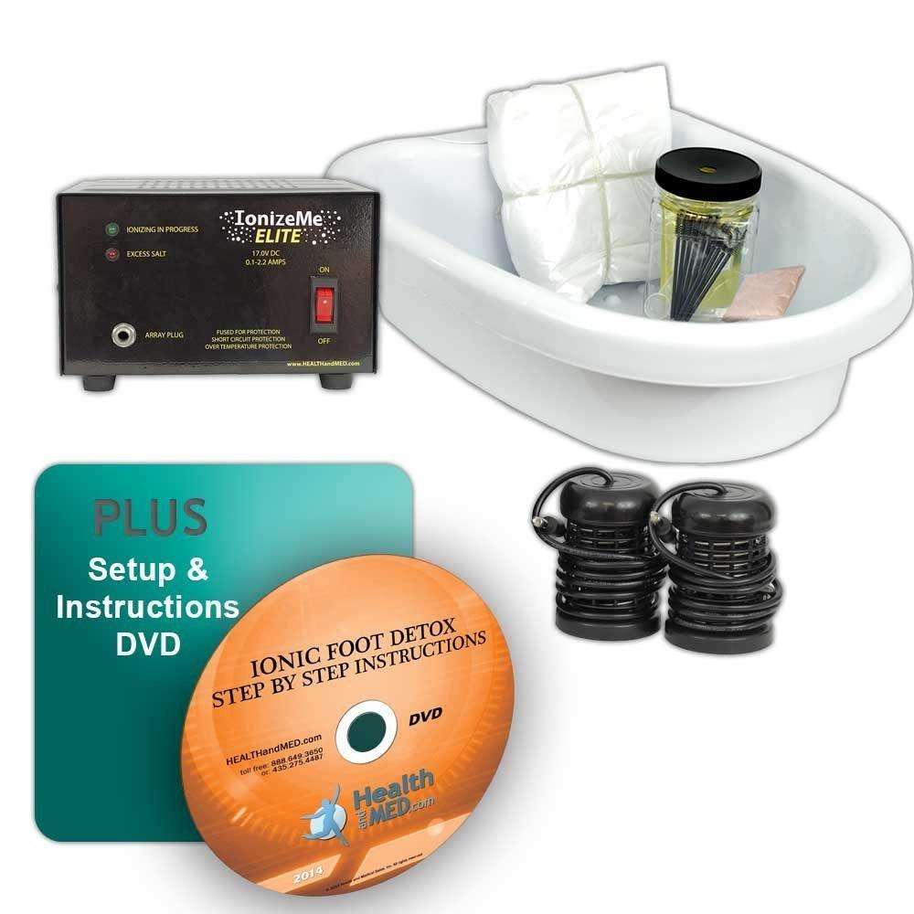 IonizeMe Elite Ionic Detox Foot Bath Spa Machine with Accessories - 17.0V 2.2 Amps - 5 Yr Warranty