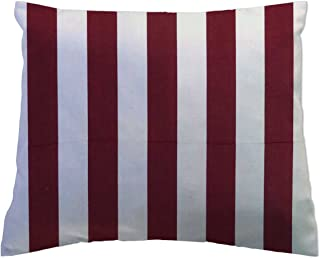 product image for SheetWorld Crib Toddler Pillow Case, 100% Cotton Woven, Burgundy Stripe, 13 x 17, Made in USA