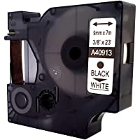Compatible D1 9 mm Labeling Tape for Dymo - Black on White