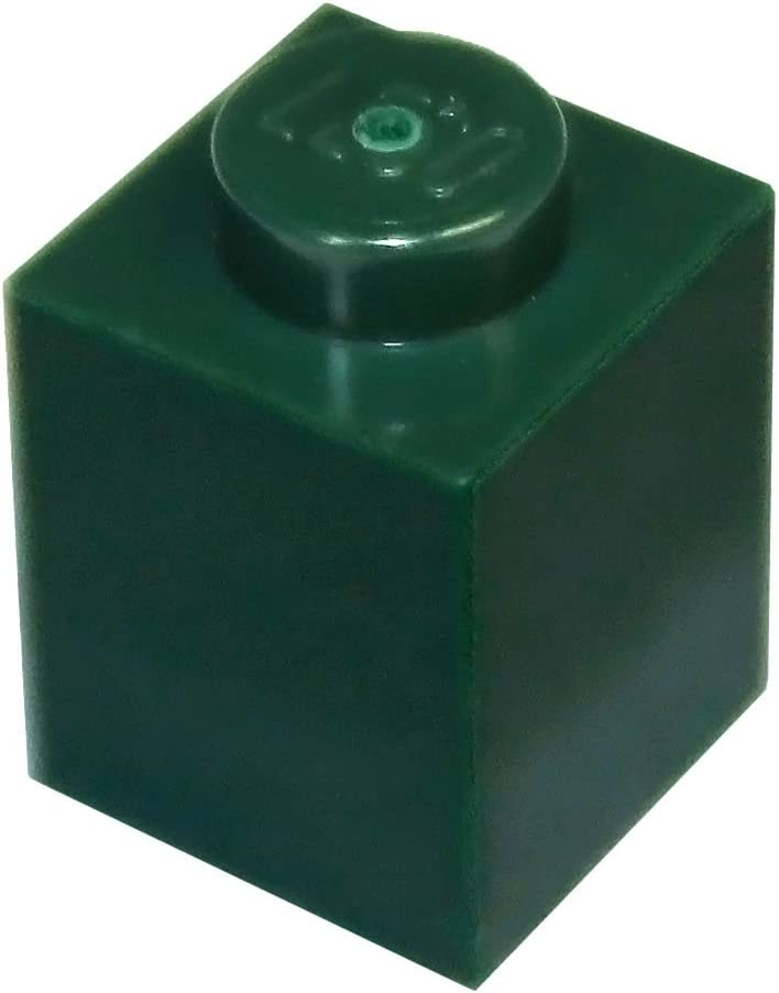 LEGO Parts and Pieces: Dark Green (Earth Green) 1x1 Brick x100