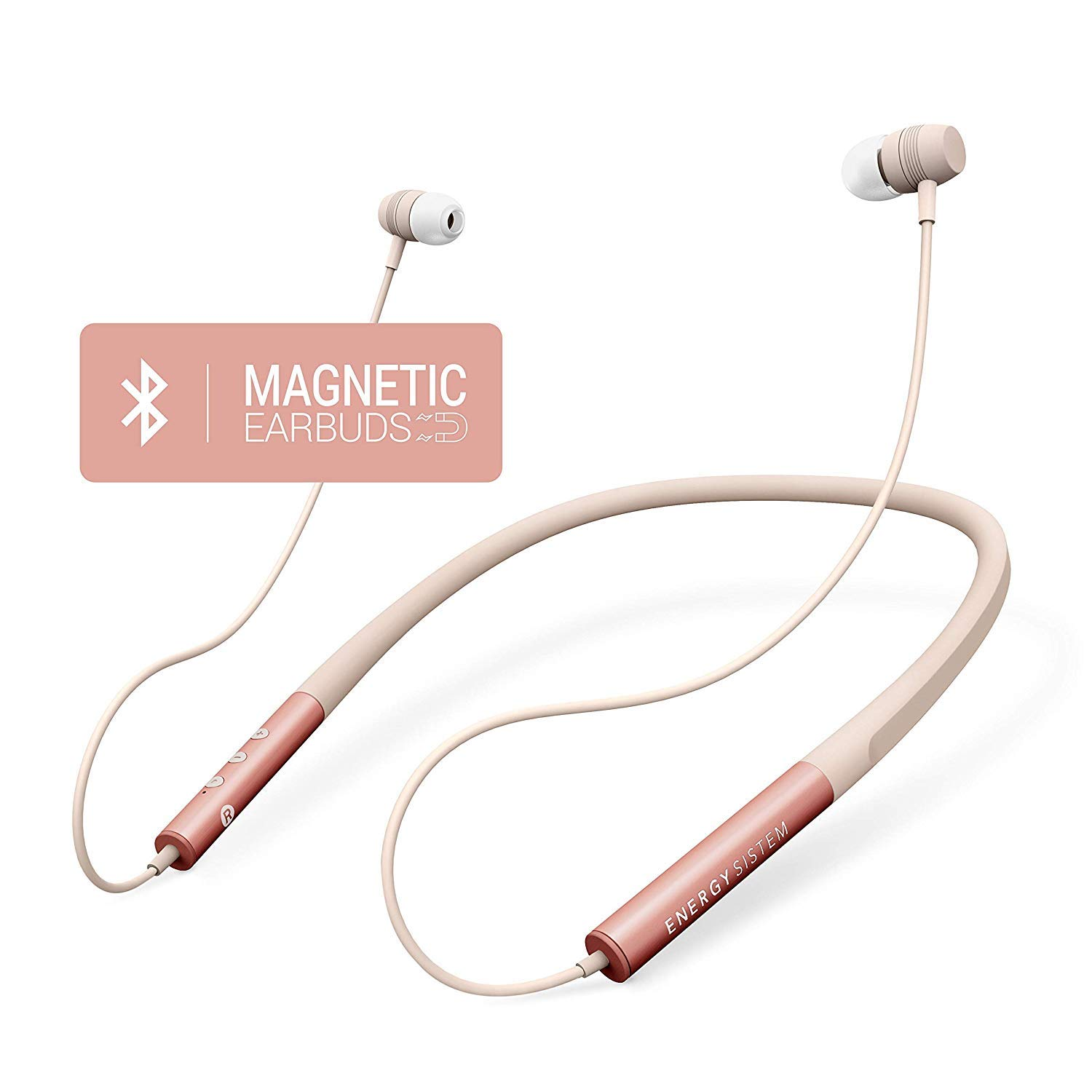 Energy Sistem Neckband 3 - Auriculares Bluetooth con Diseño ergonómico, Color Rose (Gold): Energy-Sistem: Amazon.es: Electrónica