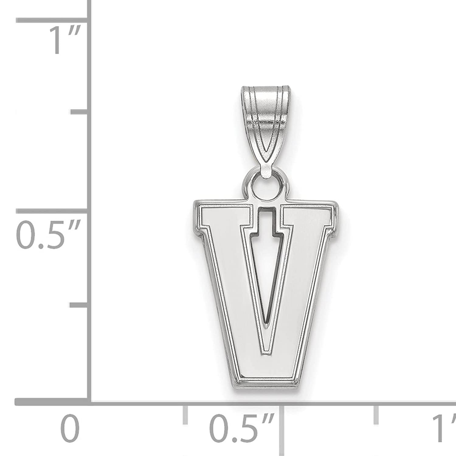 925 Sterling Silver Rhodium-plated Laser-cut Vanderbilt University Small Pendant