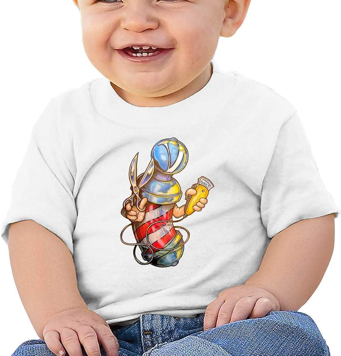 Negi Funny Barber Cotton Infant Girls Shirts Short Sleeve