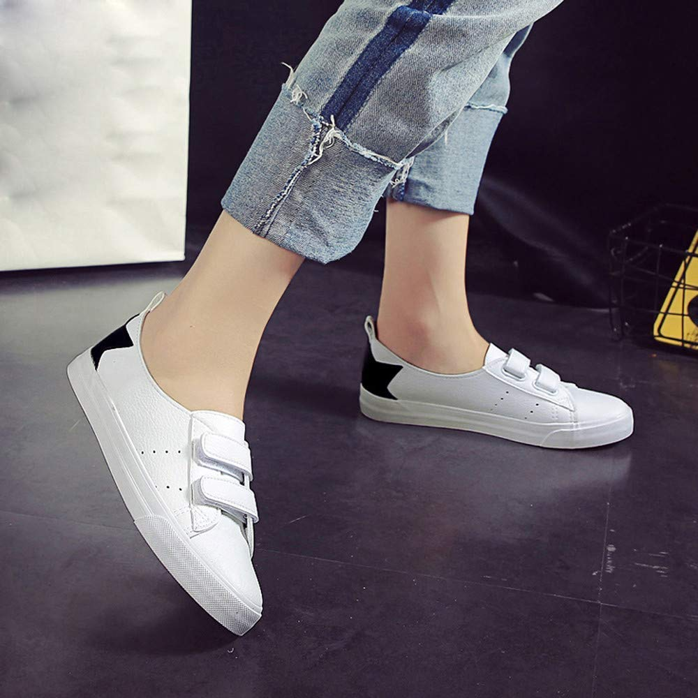 Oudan Schuhe Damen Damen Damen Stiefel Mode Einzelne Schuhe Frauen Mädchen Frühlings Sommer Mode Flache Segeltuch Weißes Brett Beschuht Zufällige Erbsenschuhe Stiefel (Farbe   Schwarz, Größe   37 EU) b6cf95