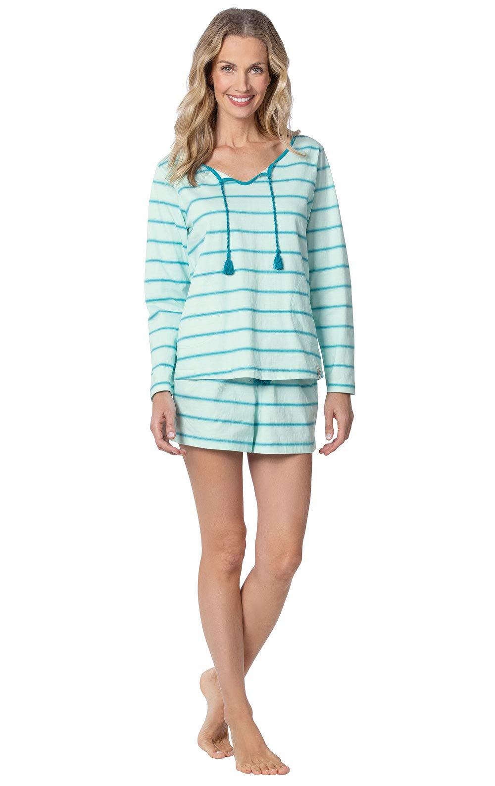 Margaritaville Pajamas for Women Fun - Womens PJs by PajamaGram, Aqua, M, 8-10 by PajamaGram