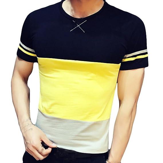 ... Camisetas Hombre Manga Corta AIMEE7 Camiseta De Cuello Redondo para Hombres Verano Camisas Joven Hombre Camisas Urbanas: Amazon.es: Ropa y accesorios