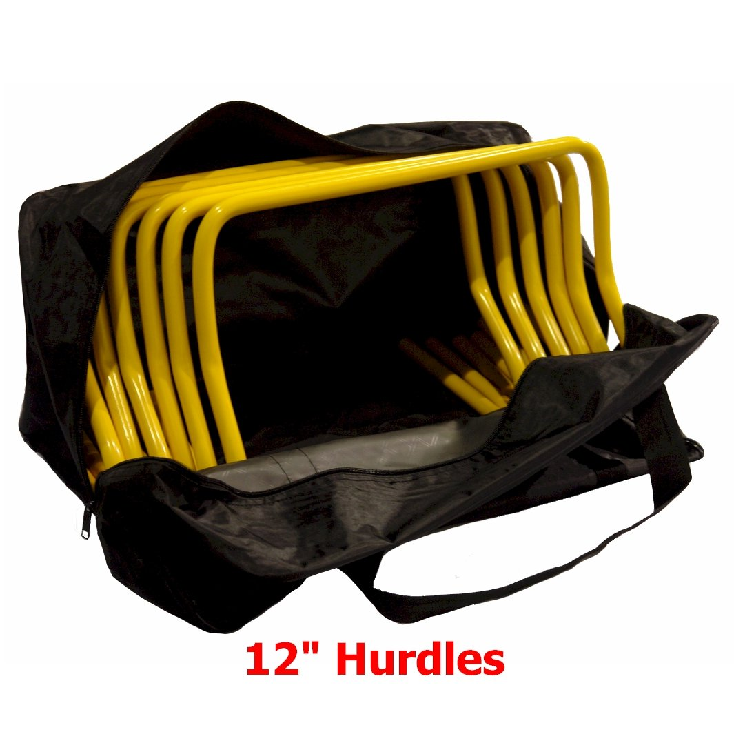 12 Inch Hurdles with Carrying Bag (Set of 6) by Workoutz