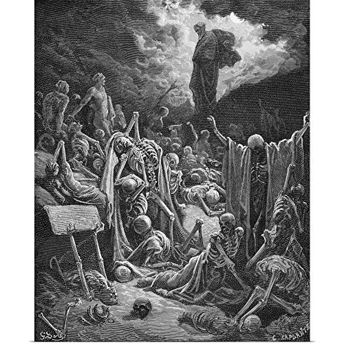 GREATBIGCANVAS Poster Print Entitled The Vision of The Valley of Dry Bones, Ezekiel 37:1-2, Illustration by Gustave Dore 29