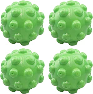 ESALINK 4 Pcs 3'' Reusable Laundry Dryer Balls Dryer Wrinkle Releasing Steamer Balls Home Drying Washing Ball Eco Friendly Fabric Softener Alternative (Green)