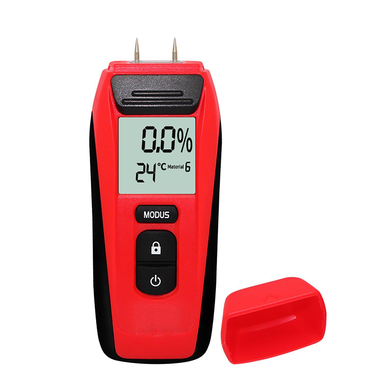 AIKOTOO Moisture Meter,Digital Wood Moisture Meter Tester for Wood LCD Display Wood Moisture Meter