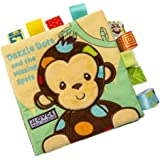 NEEDRA Animal Monkey Puzzle Cloth Book Baby Toy Cloth Development Books, Handmade Educational Toys for Baby, 1 Year Old, Toddler with Peekaboo Flap, Interactive Baby Shower Gifts Boy Girl, Best Gift