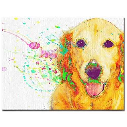 HAPPY PET ワンにゃんアートキャンバス 【Watch】ゴールデンレトリバー (M) B075KGVCNZ Medium Medium