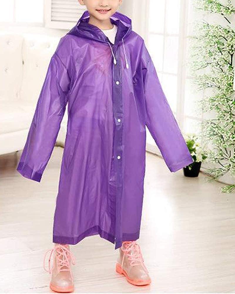 PengGengA Kinder Regenponcho Mit Kapuze Jungen M/ädchen Regenmantel Wasserdicht Regencape